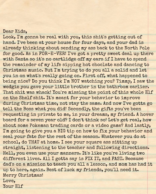 Letter to the Elf